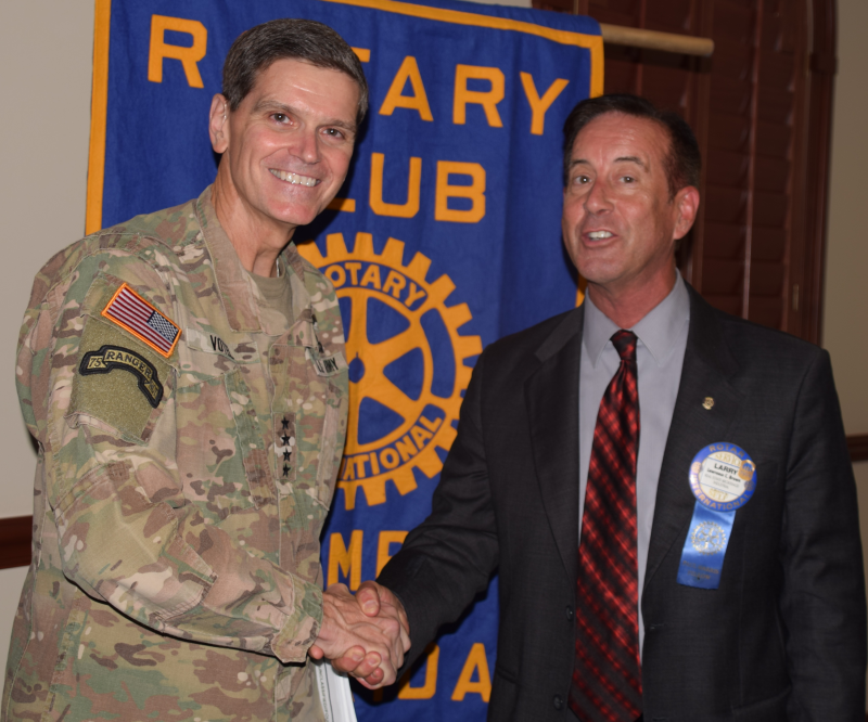 General Votel visited the club on September 26